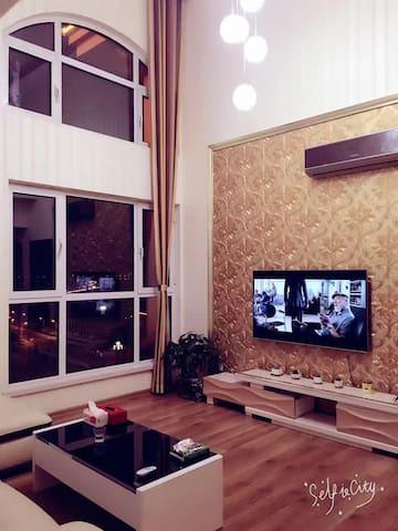 生态城起步区挑高空间温馨三居室 - Tianjin - Bed & Breakfast