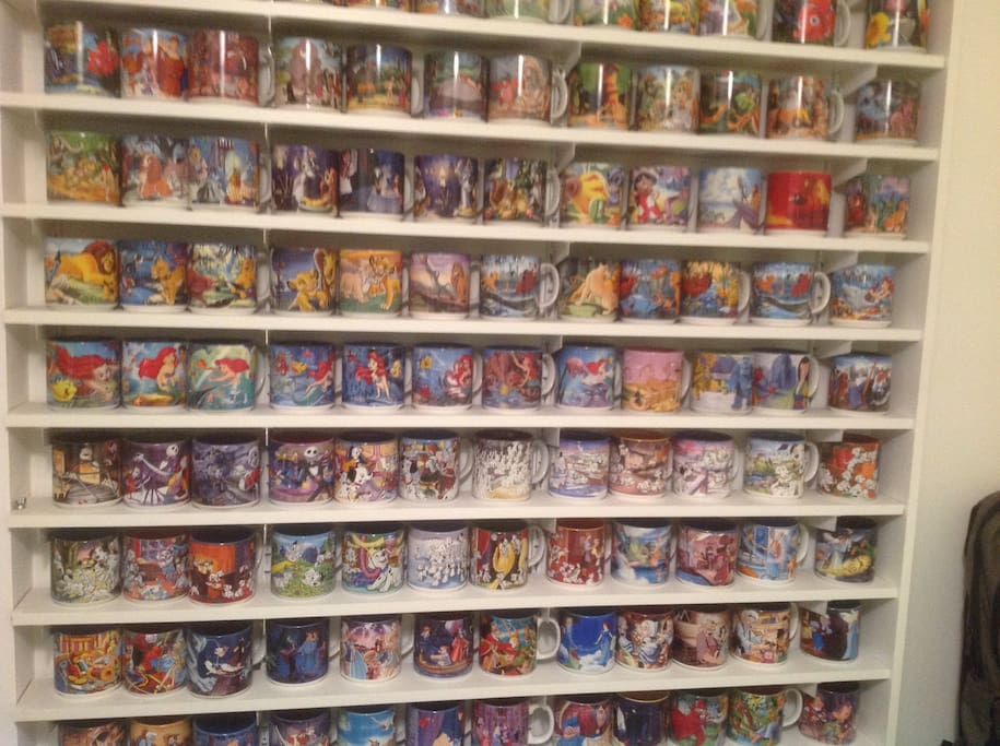 It's called the Disney room because I have my mug collection there of 268 Disney mugs.