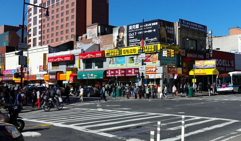 Prime Location of Flushing Queens 豪华卧室 旅途中的家 A