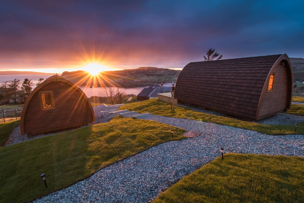 Skye Cowshed En Suite Pods Tiny Houses For Rent In Uig