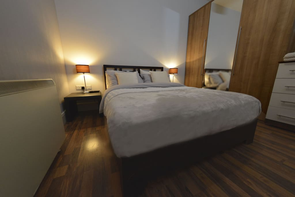 Enjoy a relaxing nights sleep in the double sized bed and wake up feeling refreshed