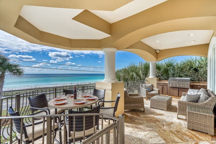 BELLA COSTA: Private Beach! Unrivaled Luxury! Gulf Front w/ Private Pool! 4 King Bedrooms!
