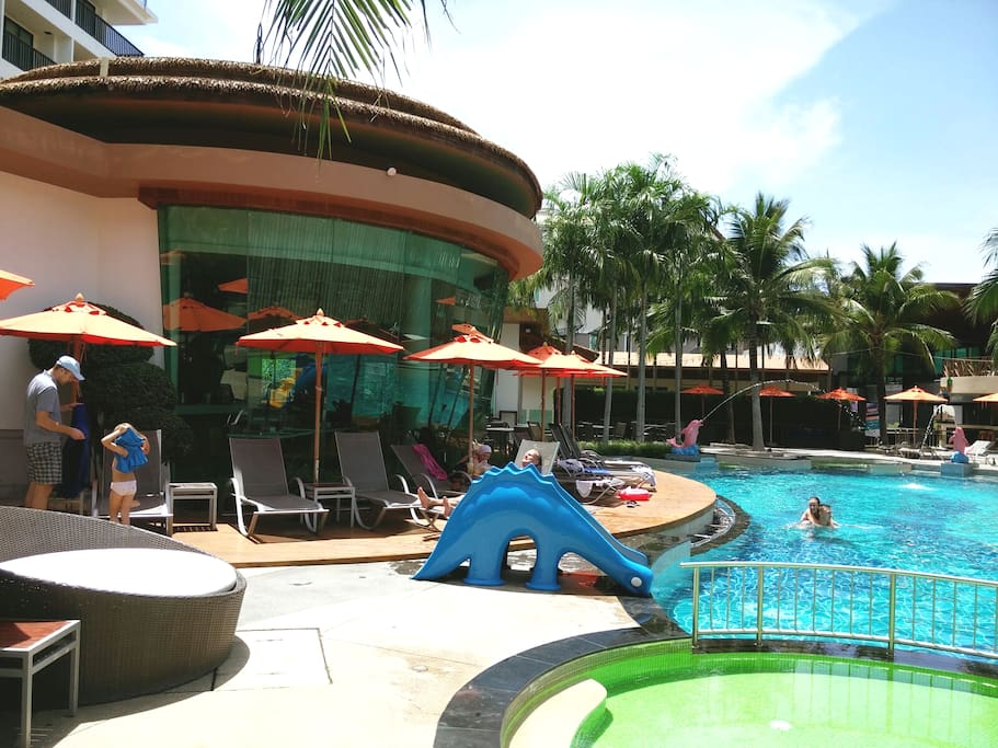 Swimming pools,  restaurant and bar
