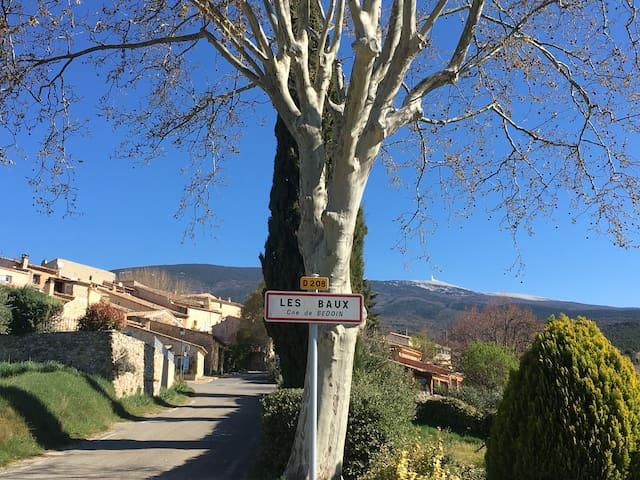 The authentic Provençal hamlet of Les Baux at the foot of the Mont Ventoux/