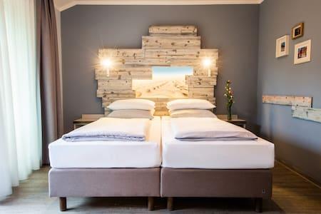 Schlafzimmer in der Familien Bude