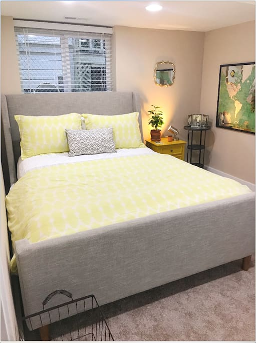 Your comfortable bed with mattress topper so it is especially cozy!