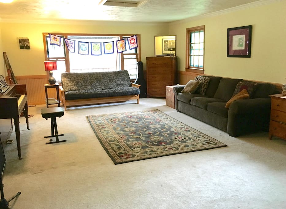Your Room with Comfortable Futon, Couch & Pull Out.