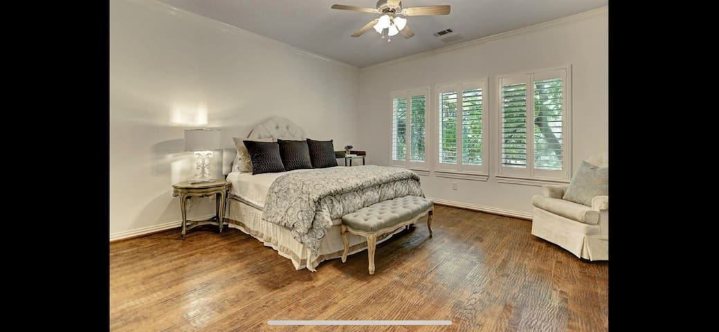 Large bedroom with California King bed