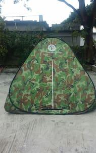 帳篷是迎合個人喜好而準備,有點刺激.有新鮮感,顯現出與大自然為伍。 - 池上鄉