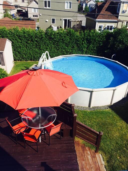 La piscine vous ait accessible en tout temps