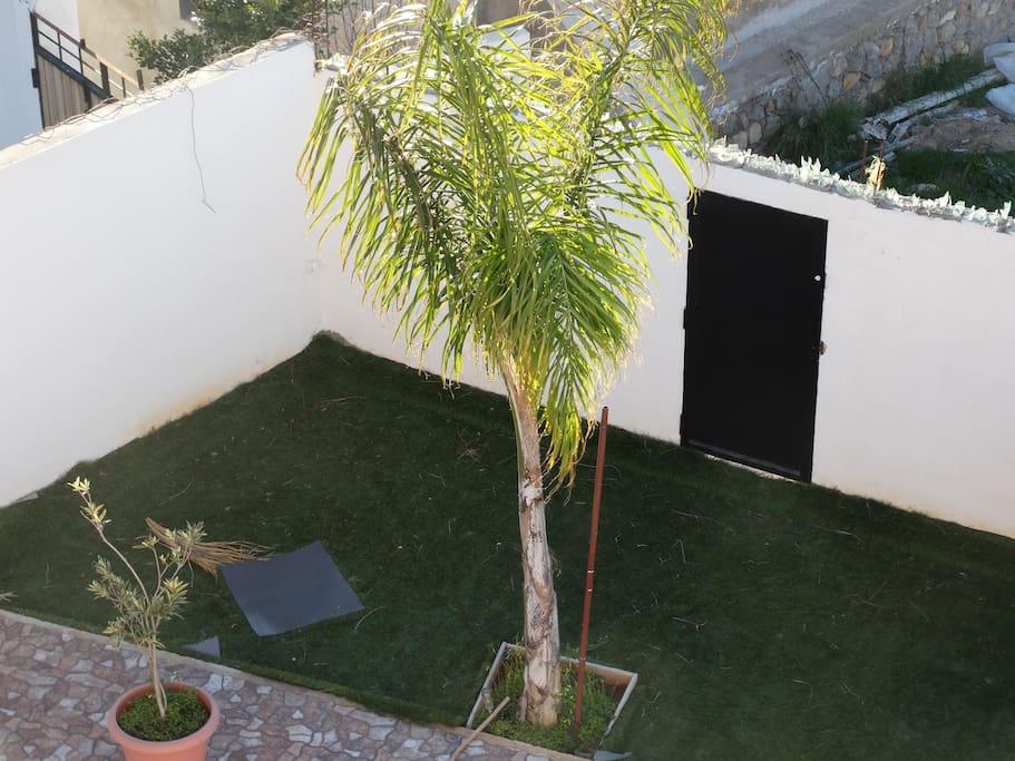 Très joli jardin en bordure de la piscine