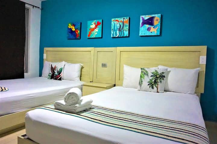 Cómoda Habitación - 2 camas #PuntaNorte#MarBohemio