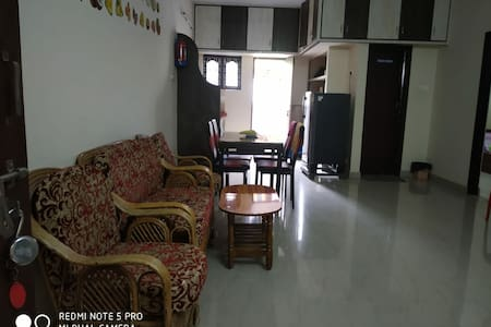 Fully furnishd 2 bhk calm green independant house