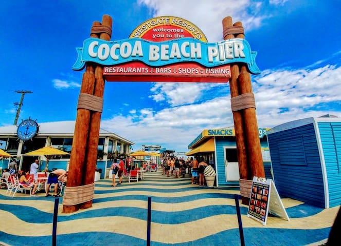 Cocoa beach pier less than one mile away