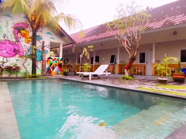 relax area in swimming pool