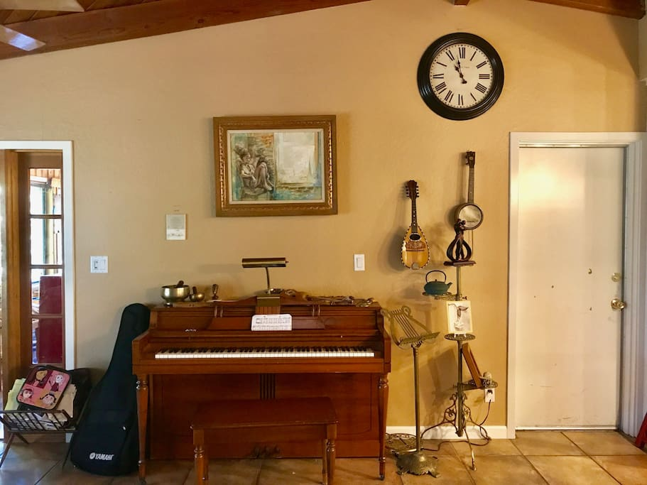 living room features Whirlitzer  Piano