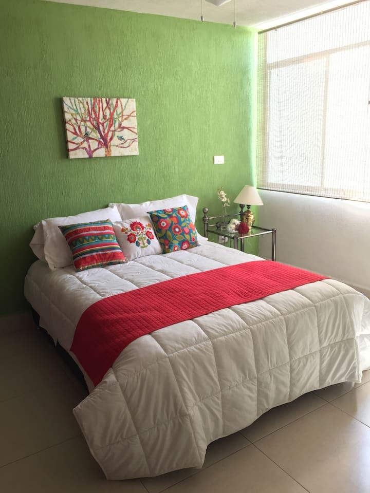 Hermosa habitación privada, con detalles para ti