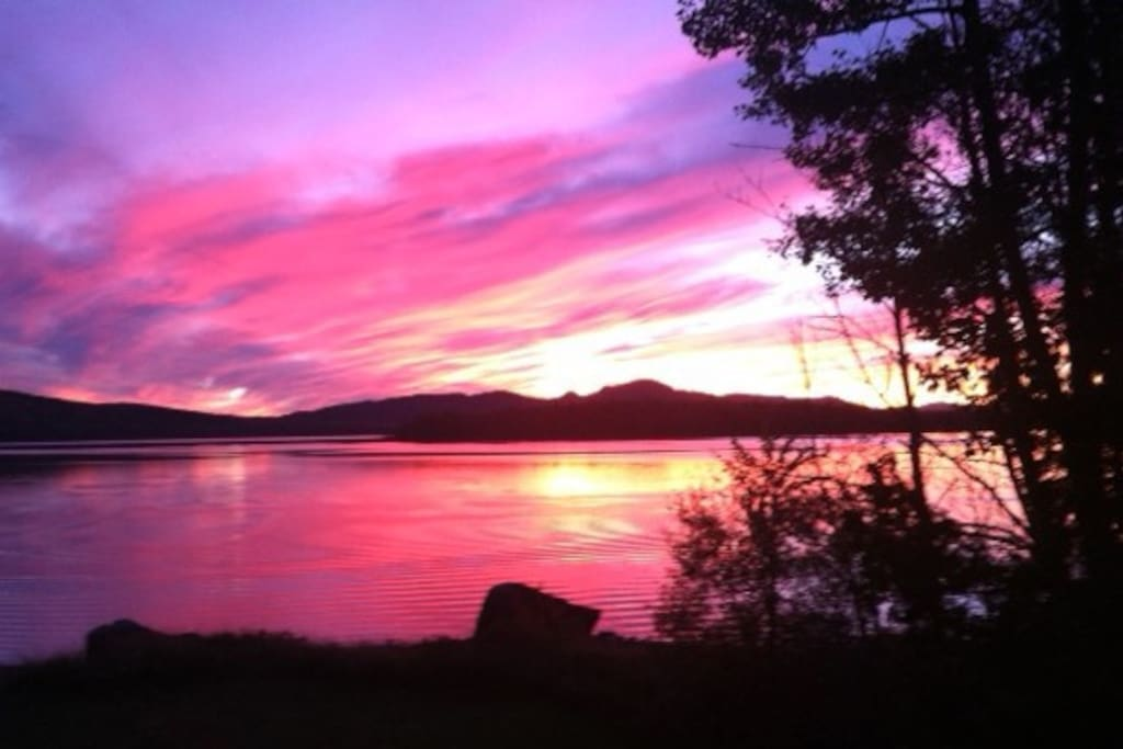 Don't miss the breathtaking sunsets over Wood Pond