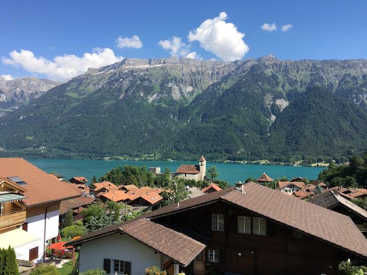 Apartment lake and mountain view