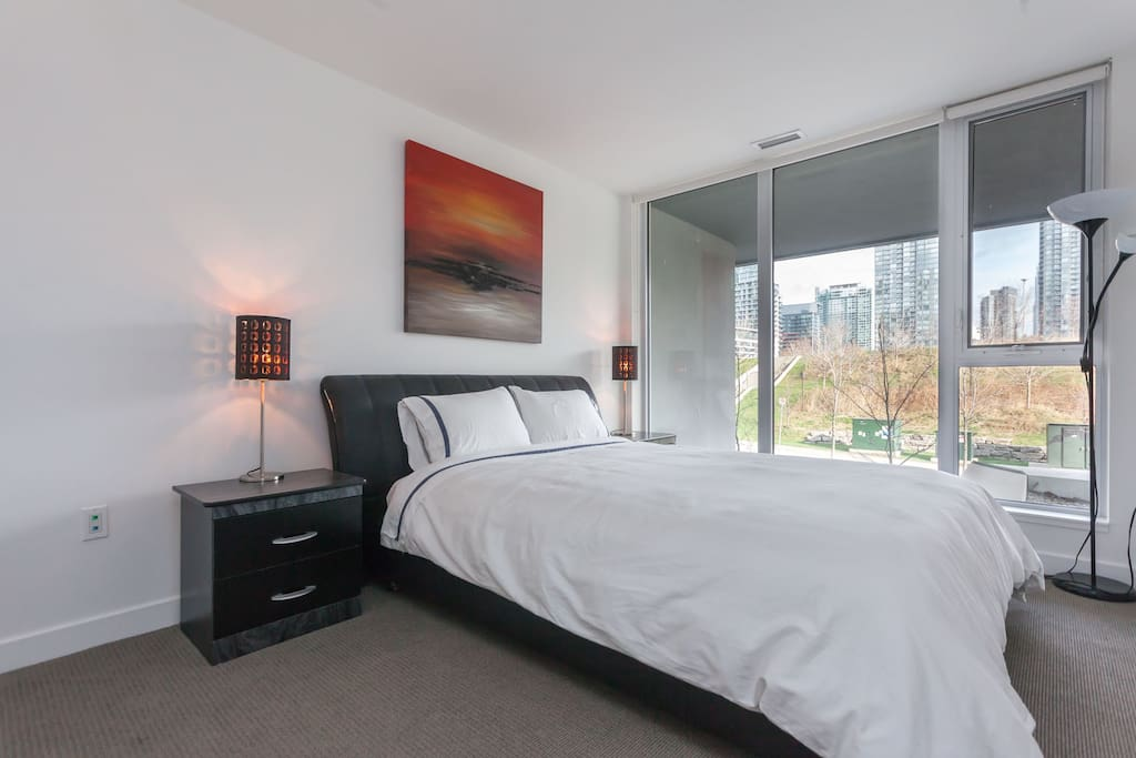 This bedroom features a CN Tower View (Upstairs)