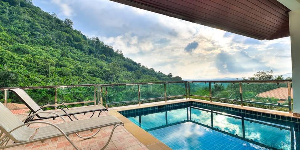 Beautiful View 5 BDR Pool Villa at Mountain,Phuket