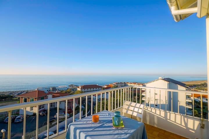 biarritz studio vue mer plage appartamenti in affitto a anglet aquitania francia. Black Bedroom Furniture Sets. Home Design Ideas