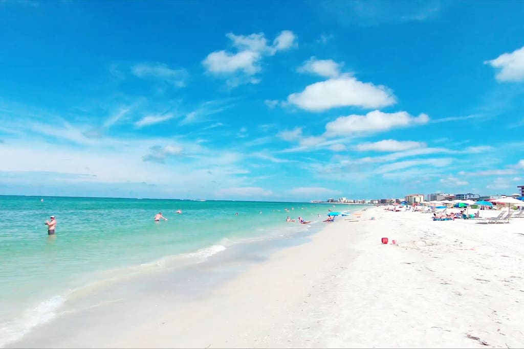 Miles of beach - area voted one of the top beaches in the US.