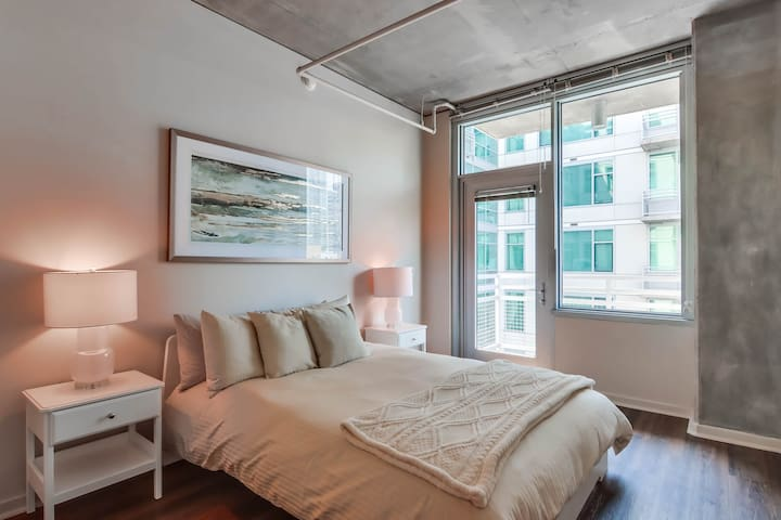 Guest Bedroom with Balcony access and Courtyard View
