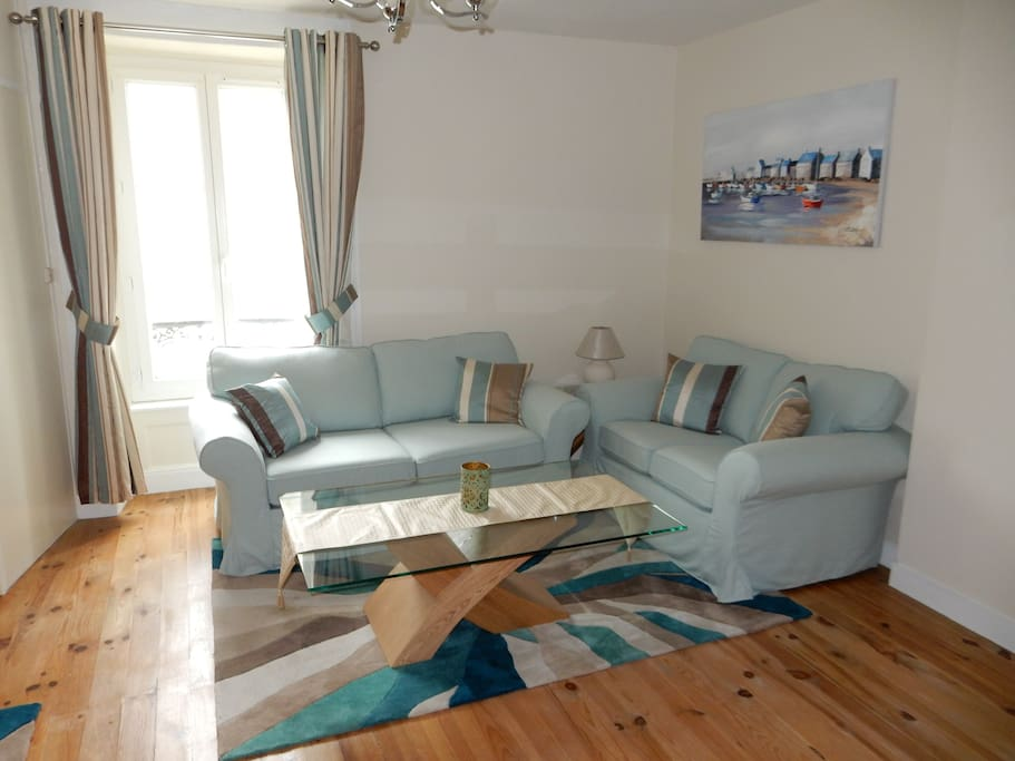 Lounge area with comfortable sofas
