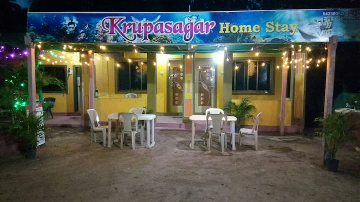 Krupasagar Home Stay nearwairy beach Few min walk.