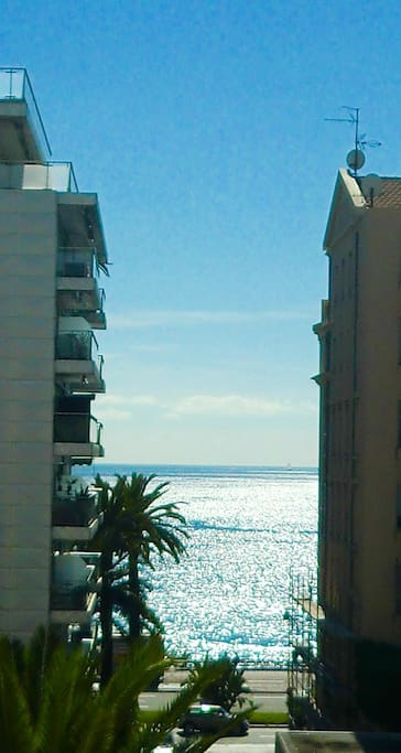 Enjoy staring at the azure sea from the balcony
