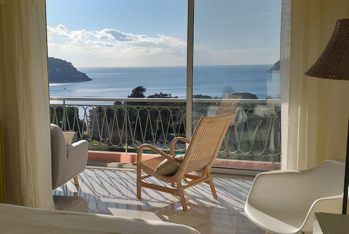 Vue mer exceptionnelle entre Nice et Monaco