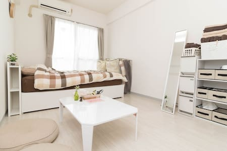 Shibuya/10min/4ppl/Wifi/1double bed - Shibuya-ku