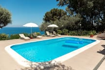Charming Villa with private pool and sea view