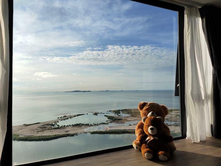 (NEW) Melaka StayCharming*Sea View*WIFI*3Pax
