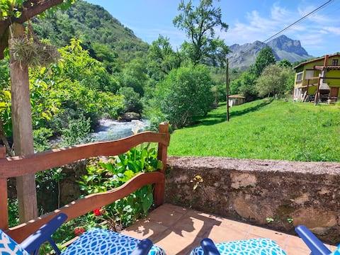 Loft con terraza y vistas al río Sella