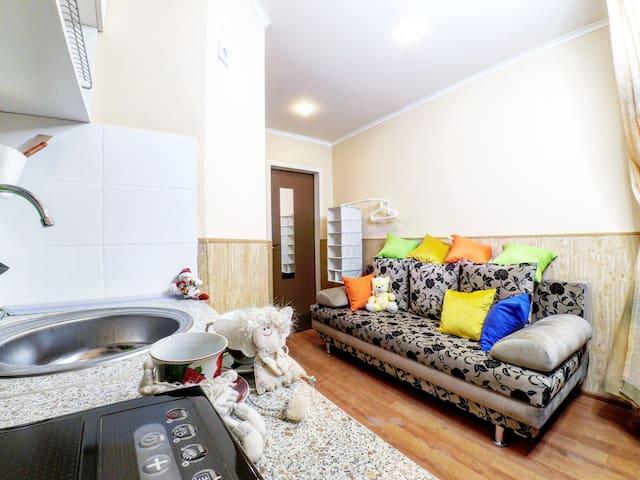 Квартира-студия с диваном