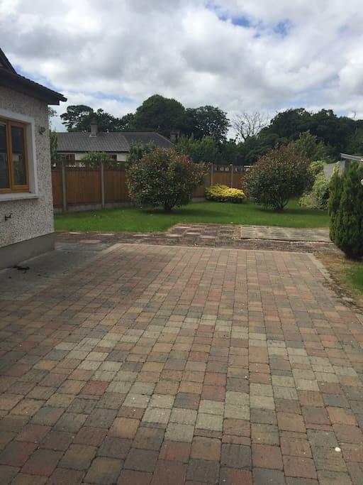 spacious back garden