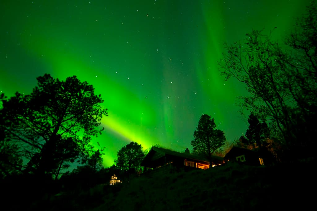 Aurora above the house