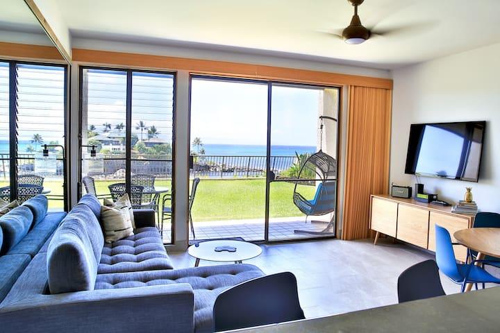 Modern + Serene Oceanfront Napili Getaway w/AC