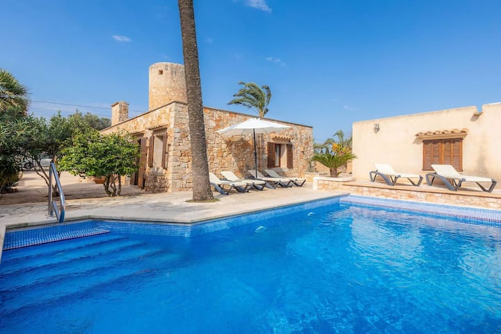Mill House with private pool and wifi in Santanyi