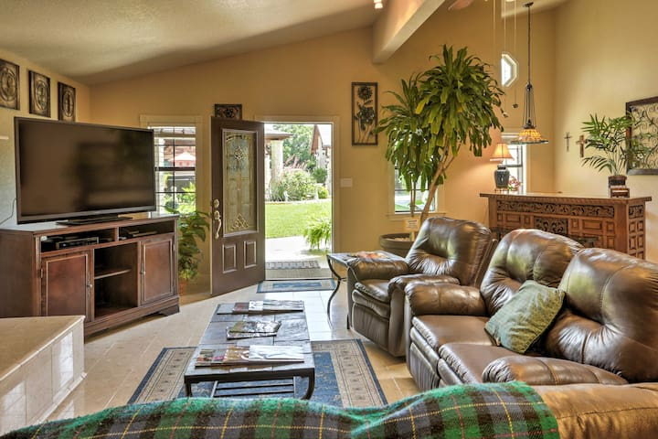 Inside, the vacation rental offers comfy furnishings and great amenities.