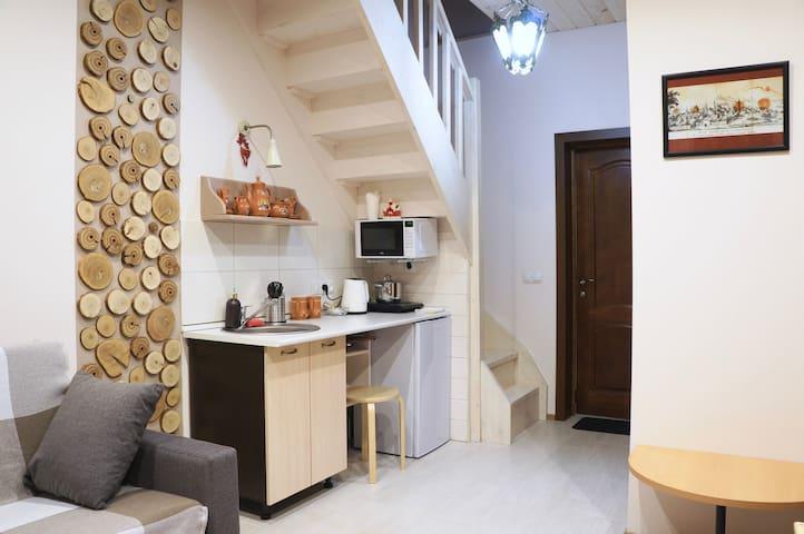 """""""Старый город"""" двухуровневые апартаменты с кухней"""