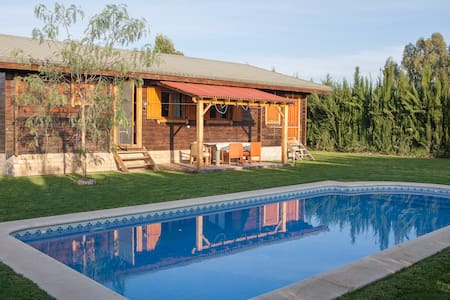 Wooden chalet with private pool - Coria del Río - Bungalo