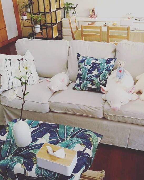 布置文艺的沙发