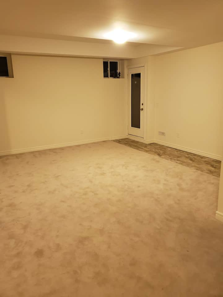 New,  very Spacious Basement Studio Apartment.