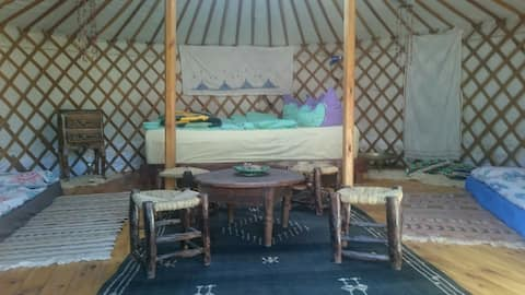 Real mongolian Yurt in the natur of Marocco