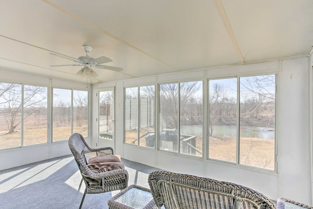 Sip your morning coffee while you read a good book in the sun room.