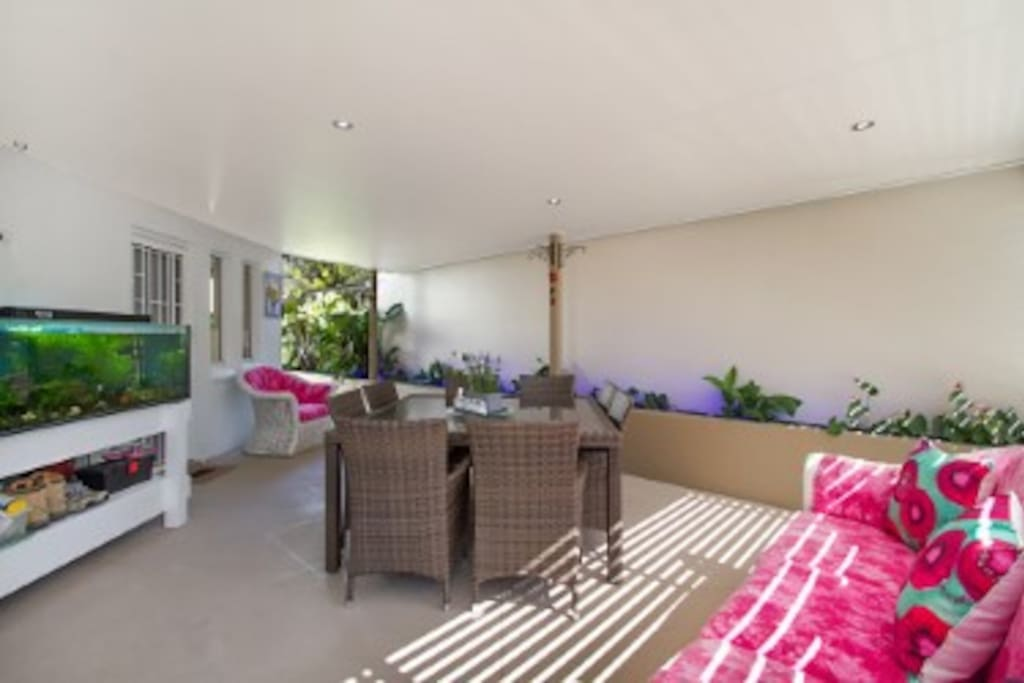 Relax in the spacious patio
