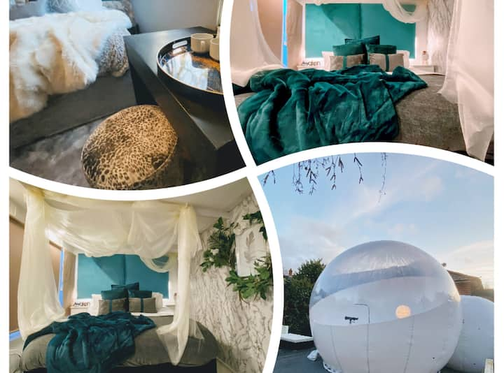🌟 The Bubble, Cabin & Marble Room With 2️⃣ Hot Tubs